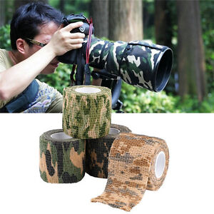 5CMx4.5M Camo Waterproof Wrap Hunting Camping Hiking Camouflage Stealth Tape ED