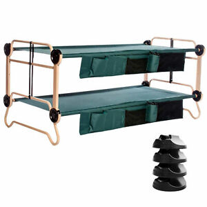 Disc-O-Bed X-Large Cam-O-Bunk Benchable Bunk Double Cot w No Slip Pads (4 Pack)