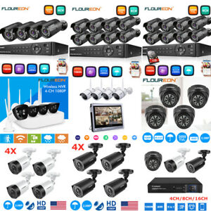 WirelessWired 8CH4CH 1080P DVR 3000TVLWifi HD IR Home Security Camera System