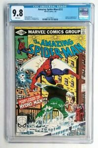 THE AMAZING SPIDER-MAN #212 CGC 9.8 *WHITE PAGES* 1ST APP HYDRO-MAN  MOVIE SOON!