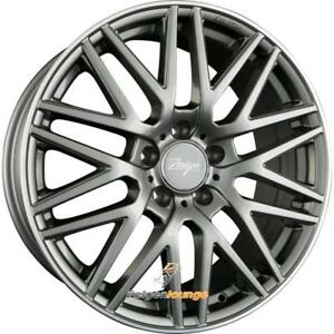4 Alloy Wheels Z Design Wheels Z001 Grey Lip Polished 8x18 ET35 5x112 666 New