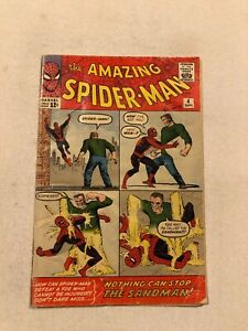 AMAZING SPIDER-MAN #4 VG- 3.5 1ST APPEARANCE OF THE SANDMAN