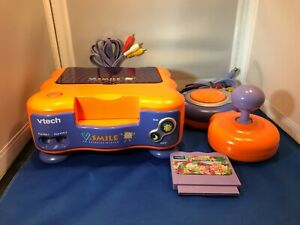 VTech V Smile TV Learning System Console 1 Controller & 1 Game Lot Works Great!
