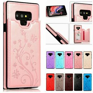 Case Cover For Samsung Galaxy Note 9 Note 8 Magnetic Leather Wallet Card Phone