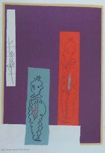 Duo Color Lithography by Pablo Picasso Two Clowns - Antoni Clavé King of Cards