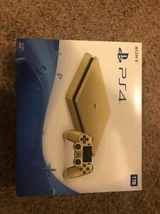 Sony PlayStation 4 Limited Edition Gold Console 1TB NIB*SEALED*1 Gold Controller