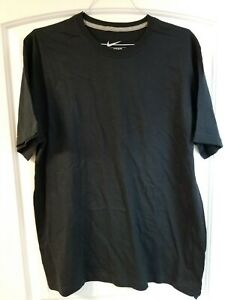 Nike XL Black T shirt 100% Cotton NEW $9.99