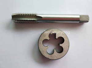 1pc HSS M17X 1.25mm Plug Right Tap and 1pc M17 X1.25mm Right Die Threading Tool $15.99