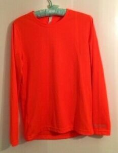 Brooks Women's Equilibrium Technology Long Sleeve Running Shirt Size XS Orange
