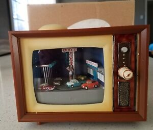 "Roman Musical Lighted TVTelevision 4.5"" 50'S Drive-in TV Musical"
