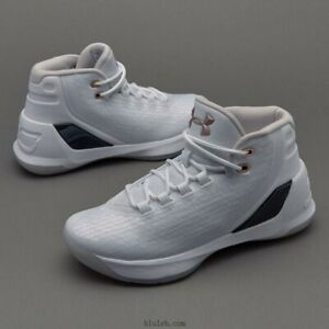 USED Under Armour Stephen Curry 3 GS Size 5.5 Youth Shoes White 1274061 109