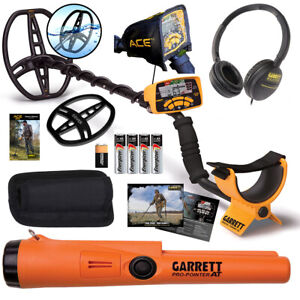 Garrett ACE 400 Metal Detector with Headphones & Propointer AT Free Accessories