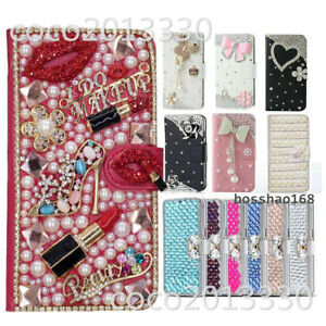 For Samsung Galaxy A5 A6 A7 A8 A9 2018 Bling PU Leather Wallet Case phone cover