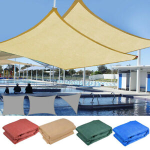 Sun Shade Sail Outdoor Patio Top Canopy Cover UV Block Triangle Square Rectangle