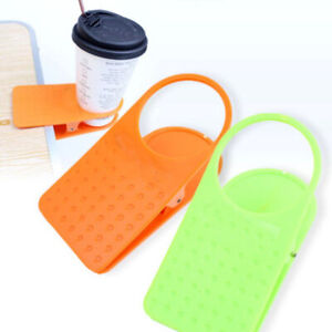 Plastic Table Desk Side Water Cup Stand Holder Clip Camping Picnic BBQ