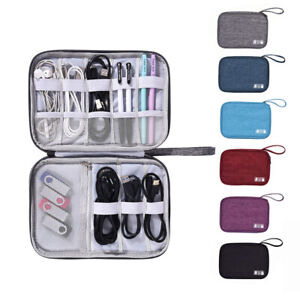 Travel Cable Cord Organizer Electronics Accessories Bag USB Hard Drive Case Bag $5.98