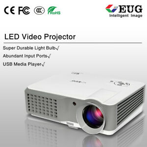 4200LM LED LCD Home Theater Projector Backyard Movie HD Video HDMI*2 USB VGA TV