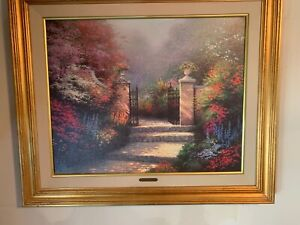 The Victorian Garden by Thomas Kincade canvas print limited 74 100 P P 29quot;x23quot; $2999.99