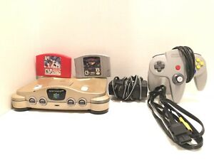 Custom Gold Nintendo 64 N64 System Console Official OEM Controller Bundle Tested