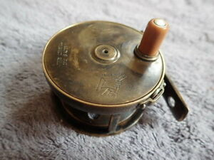 HARDY Vintage Fly Fishing Reel The Perfect 2 58 All Brass made in England