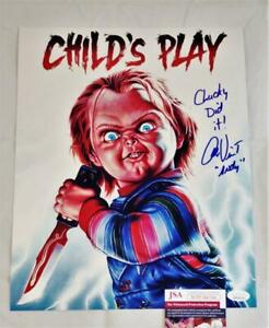 ALEX VINCENT ANDY SIGNED 11X14 METALLIC PHOTO CHILDS PLAY ANDY JSA COA 760 $48.39