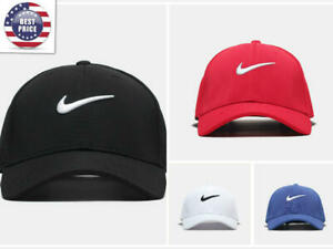New Adjustable Fit Nike Golf Baseball Cap Swoosh Front Fit Poly For men women