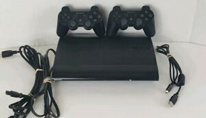 Sony PlayStation 3 CECH4001C 500GB Super Slim blk w2 controllers and Minecraft
