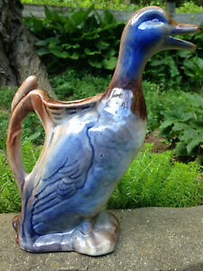 Vintage Duck Pitcher No Noted Marks- Possible Majolica