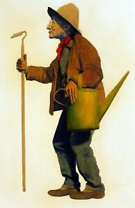 Maxfield Parrish's painting of the Gardener. Canvas People.  11x17 Print