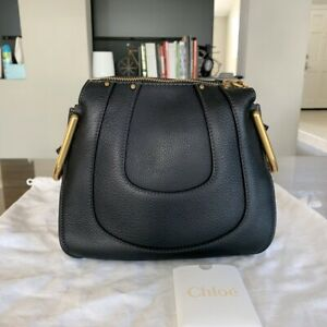 Chloe Designer Womens' Black Handbag in Small Grain Calfskin ~$1890 Retail ~MINT