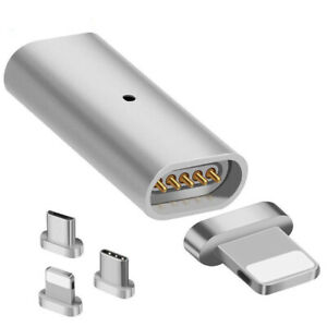 Magnetic Micro USB Adapter Charger Transfer Connector For Android iPhone Type XD