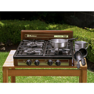 KOBLENZ 4-BURNER PROPANE/GAS Cooktop Stove Portable Outdoor Camping 18