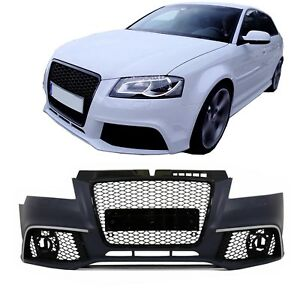 Front Bumper for AUDI A3 8P Facelift 09-12 RS3 Design Grille Dummy Radars