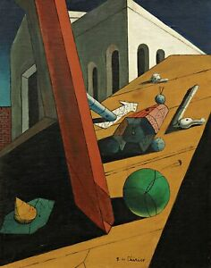 The Evil Genius of a King by de Chirico. Abstract Repro Print on Canvas or Paper
