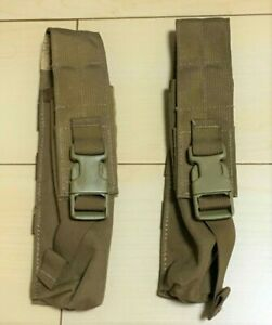 (2) Two NEW MOLLE Ground Illumination FLARE POUCH Pop Up Coyote 425COY
