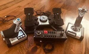 Saitek X52 Flight Controller: Joystick Throttle Rudder Pedals Switch Panel