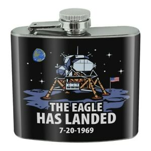 NASA Apollo 11 The Eagle Has Landed Stainless Steel 5oz Hip Drink Flask