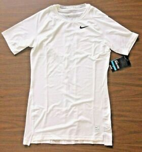 NIKE Men's Dri FIT COMPRESSION 'Body Fitting' Tee White Sm Med Lg XL 2XL $19.99