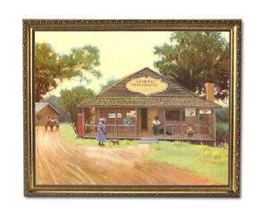 African American Black Old General Store Wall Picture Gold Framed Art Print $64.97