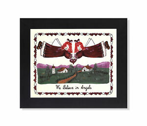 We Believe in Angels Cartoon Drawing Wall Picture 8x10 Art Print