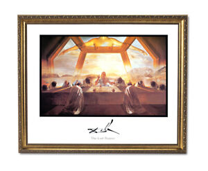 Salvador Dali Last Supper Wall Picture Gold Framed Art Print