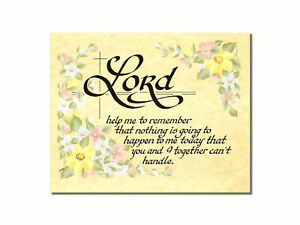 Lord Help Me to Remember Christian Religious Wall Picture 8x10 Art Print