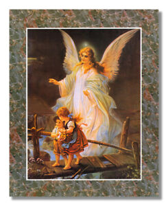 Guardian Angel Children On Bridge #2 Wall Picture Art Print