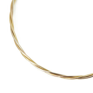 CARTIER 18K YELLOW WHITE & ROSE GOLD TWIST DESIGN NECKLACE COM1044