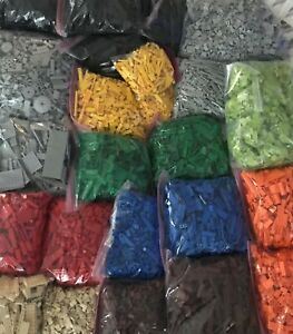 LEGO 100 PIECES FROM BULK SORTED LOT RANDOM SELECTION CHOICE OF COLOR amp; QTY $10.50
