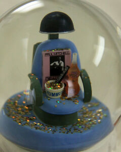 YOU DON'T MESS WITH THE ZOHAN official snow globe RARE Adam Sandler HAIR STYLIST