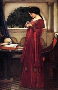 Crystal Ball by John Waterhouse. Life Art Repro Made in U.S.A Giclee Prints $20.65