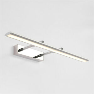 Modern Chrome LED Bathroom Mirror Front Light Adjustable Vanity Lighting Fixture
