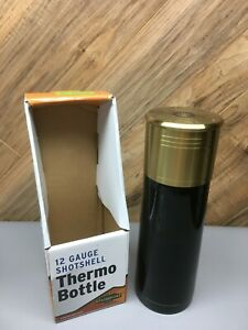 12 Gauge Thermo Bottle Shot Shell StanSport 1 touch stopper 3 cup or 25 oz 10.5