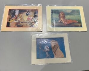 Lot of 3 Disney Lithographs Lion King Snow White and Fox Hound 1994 and 1995 $32.99
